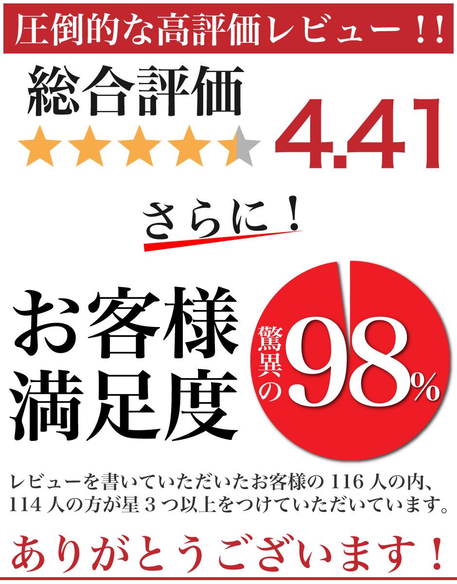 """""""満足度98%""""/"""