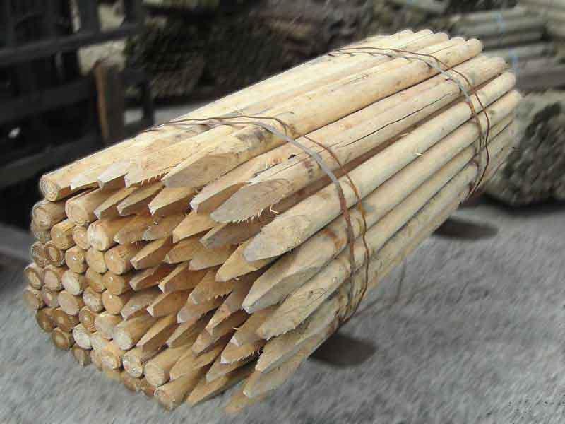 杭丸太 白木