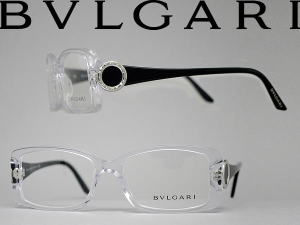 woodnet: Clear glasses Bvlgari × black BVLGARI glasses