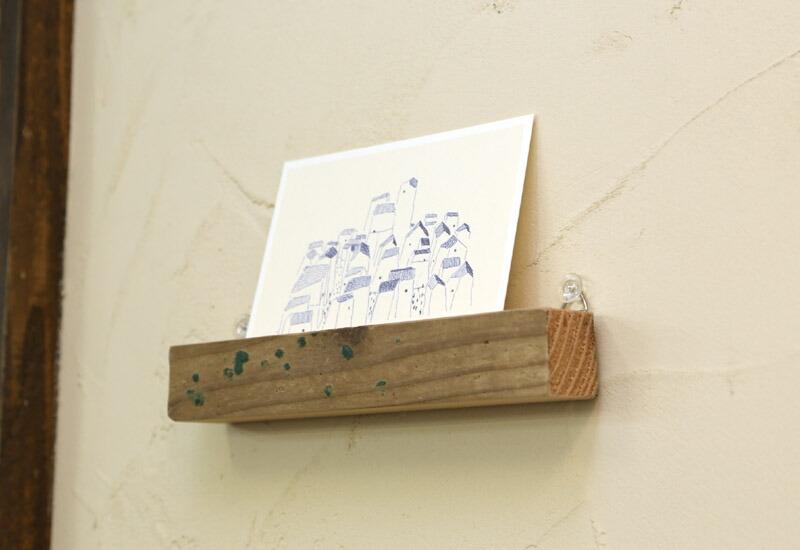 OLD ASHIBA カードスタンド 足場板 古材 通販 雑貨 インテリア 写真立て カード立て 義捐金 チャリティ