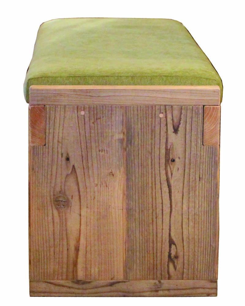 OLD ASHIBA(足場板古材)クッション付きベンチ