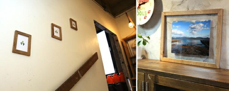 OLD ASHIBA イージーフレーム 額 額縁 足場板 古材 通販 雑貨 インテリア 写真 シンプル フォトフレーム ディスプレイ ウェルカムボード