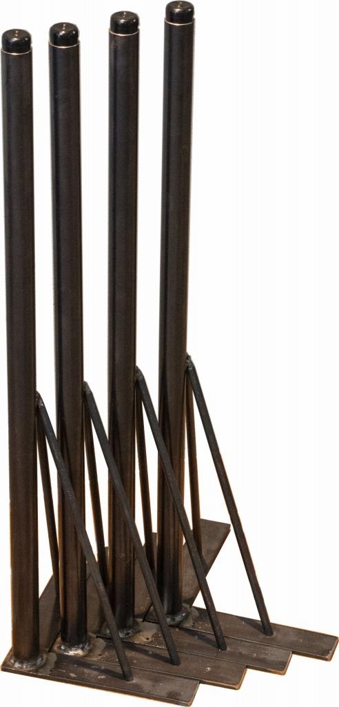 4本セット 独立脚タイプ アイアン脚 アイアンレッグ デスク脚 黒皮鉄 男前 独立 DIY アジャスター 渋い おしゃれ かっこいい おすすめ テーブル脚 ダイニングテーブル リビングテーブル