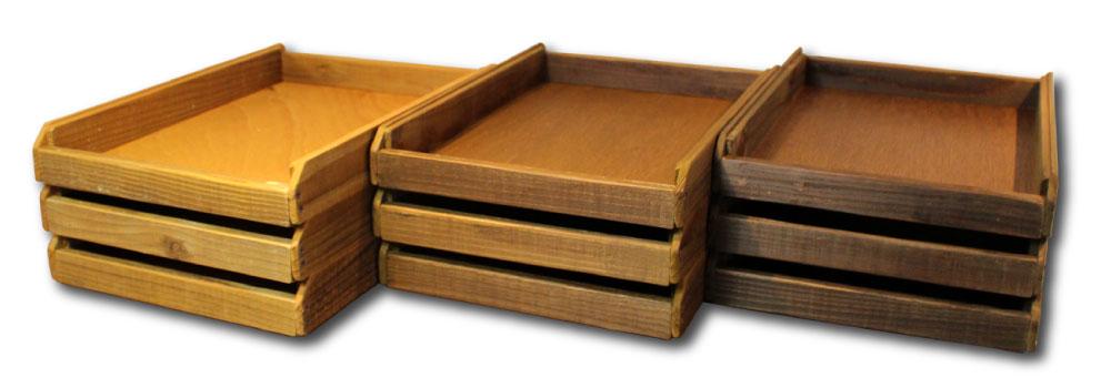 OLD ASHIBA(足場板古材)レタートレイ トレイボックス カラー color 塗装仕上げ 水性ステイン