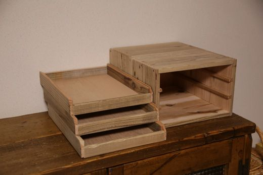 OLD ASHIBA(足場板古材)レタートレイ A4サイズ トレーボックス トレイボックス