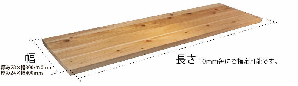 天板のサイズを決める サイズオーダー