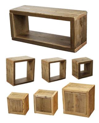 OLD ASHIBA 足場板古材 ラック ボックス キューブ 重ねる 並べる カバー キャスター 扉 オーダー スパイスラック キッチン