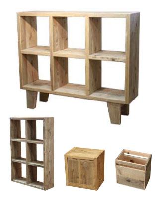 OLD ASHIBA 足場板古材 格子ラック オープンシェルフ 見つかる 扉付き 背板付き ぴったり 本棚 大容量
