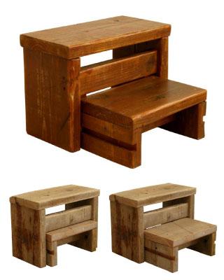 OLD ASHIBA 足場板古材 踏み台 ステップ 台 ディスプレイ 腰掛 飾り棚 サイドテーブル