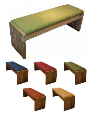 OLD ASHIBA 足場板古材 ベンチ クッション 椅子 長椅子