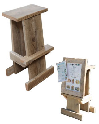 OLD ASHIBA 足場板古材 踏み台 ステップ 台 ディスプレイ 腰掛 飾り棚 スツール イーゼル