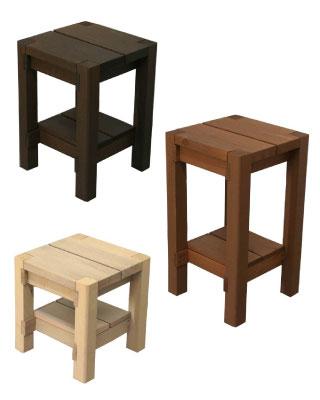 SUGI 国産杉 飫肥杉 無垢 木材 木製 スツール ベンチ 飾り棚 花台 ベランダ 庭 レトロ 懐かしい 椅子 チェア