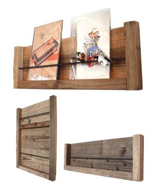 OLD ASHIBA 足場板古材 レターラック 壁掛け 立て掛け ポストカード 写真 フォト