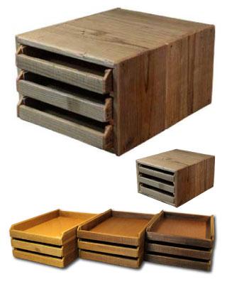 OLD ASHIBA 足場板古材 レタートレイ トレイボックス 収納 卓上 収納 デスク テーブル