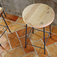 アイアンスツール 木製 椅子 カウンター ダイニング おしゃれ 古材 飾り台
