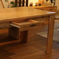 ダイニング テーブル 木製 古材 オーダー 2人掛け 4人掛け 6人掛け