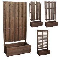 ウッドフェンス 木製 フェンス 簡単 完成品 組立不要 樹脂 アルミ製
