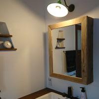 ミラー キャビネット すっきり 木製