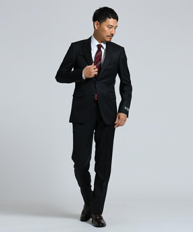 TAKEO KIKUCHI(タケオキクチ)通販|シャドーストライプアマデウススーツ [ メンズ スーツ ](ブラック(019))