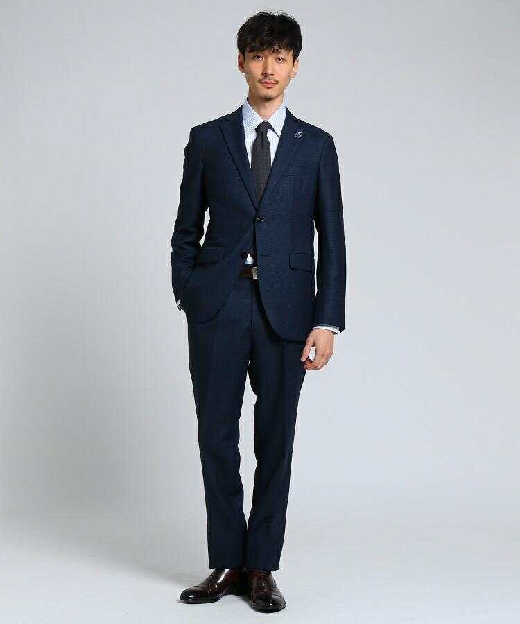 TAKEO KIKUCHI(タケオキクチ)通販 【PNJ】番千鳥 2Bスーツ[ メンズ スーツ ](ネイビー(493))
