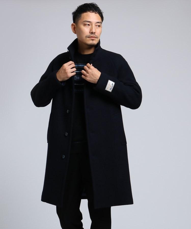 TAKEO KIKUCHI(タケオキクチ)通販 エアリーメルトンスタンドカラーコート[ メンズ コート アウター 軽量 メルトン ](ダークネイビー(094))