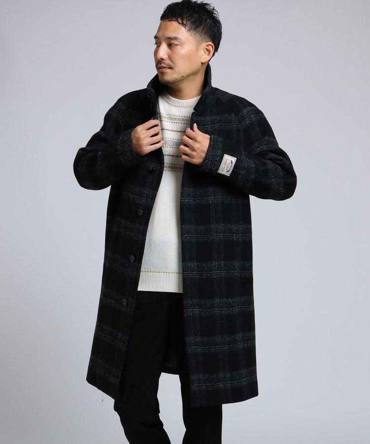 TAKEO KIKUCHI(タケオキクチ)通販 エアリーメルトンスタンドカラーコート[ メンズ コート アウター 軽量 メルトン ](ブラック(219))