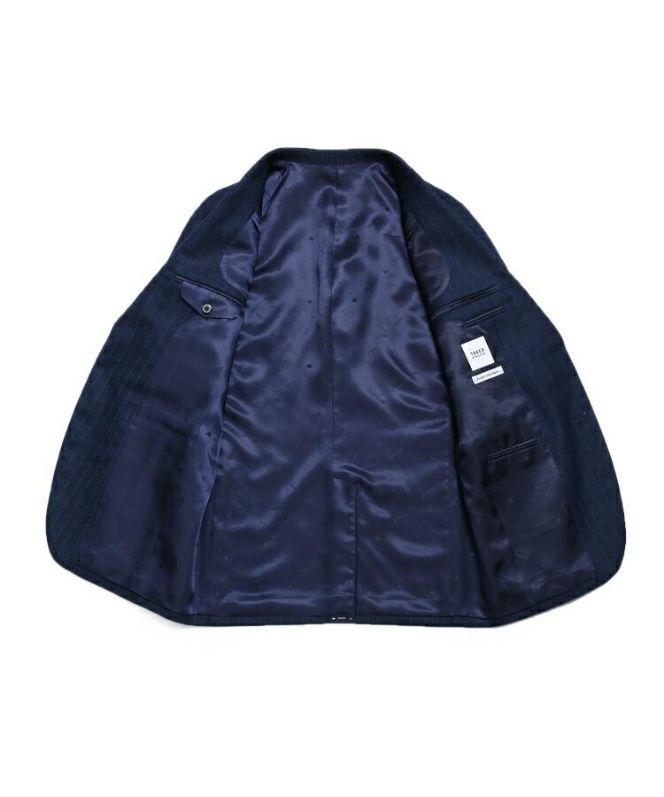 BR070(タケオキクチ)通販|【PNJ】紡ぎカラーストライプ2Bスーツ[ メンズ スーツ ストライプ ]