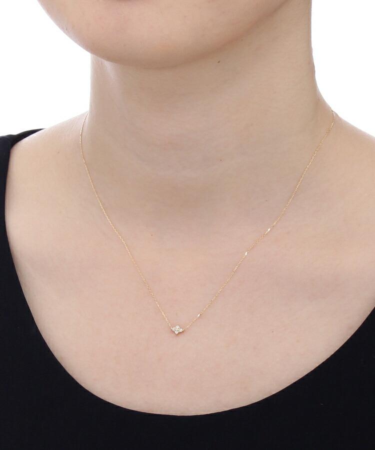 BR405(ココシュニック)通販|K18ダイヤモンド フラワーネックレス