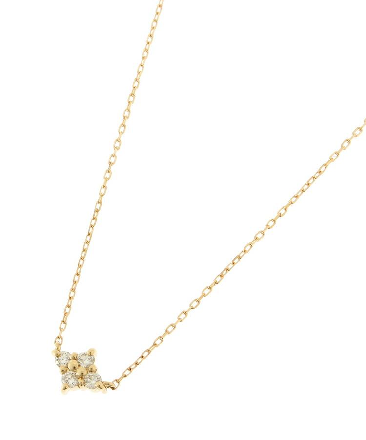 COCOSHNIK(ココシュニック)通販|K18ダイヤモンド フラワーネックレス(イエローゴールド(104))