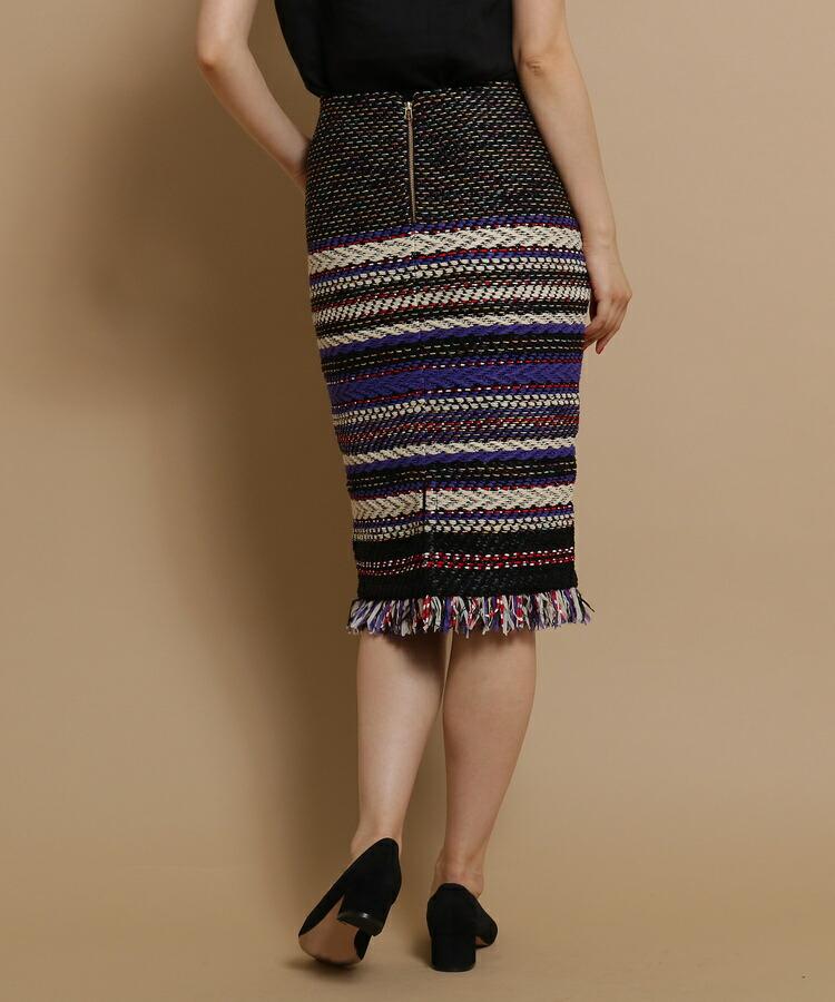BR528(アナトリエ)通販|COOHEM カラフルフリンジタイトスカート