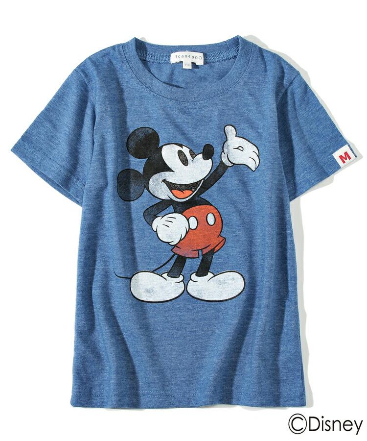 3can4on(Kids)(サンカンシオン(キッズ))通販 <ディズニー>半袖Tシャツ(ブルー(092))