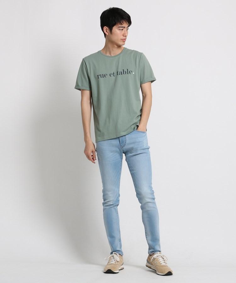 BR616(ザ ショップ ティーケー(メンズ))通販 コットンロゴ刺しゅうTシャツ