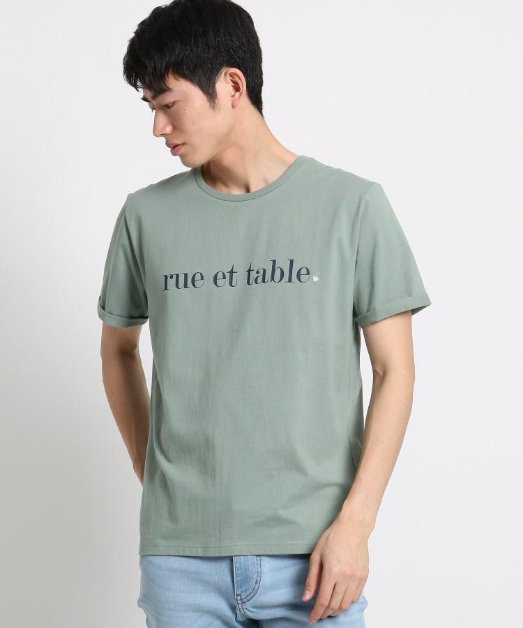 THE SHOP TK(Men)(ザ ショップ ティーケー(メンズ))通販 コットンロゴ刺しゅうTシャツ(ライトグリーン(021))