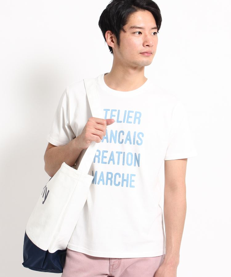 THE SHOP TK(Men)(ザ ショップ ティーケー(メンズ))通販|カラーロゴプリントTシャツ(オフホワイト(703))
