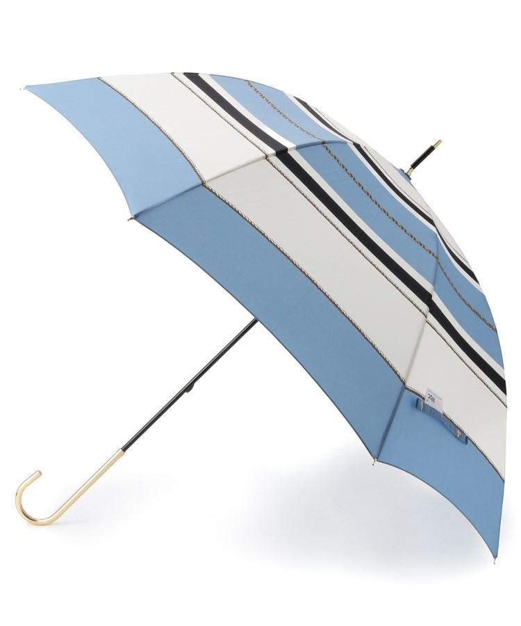 BR763(ピンクアドベ)通販 スカーフボーダー晴雨兼用アンブレラ(長傘)