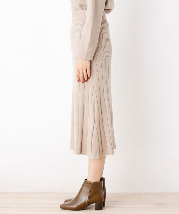 BR768(グローブ)通販|【洗える/アンチピリング加工】毛玉軽減プリーツ風ニットスカート