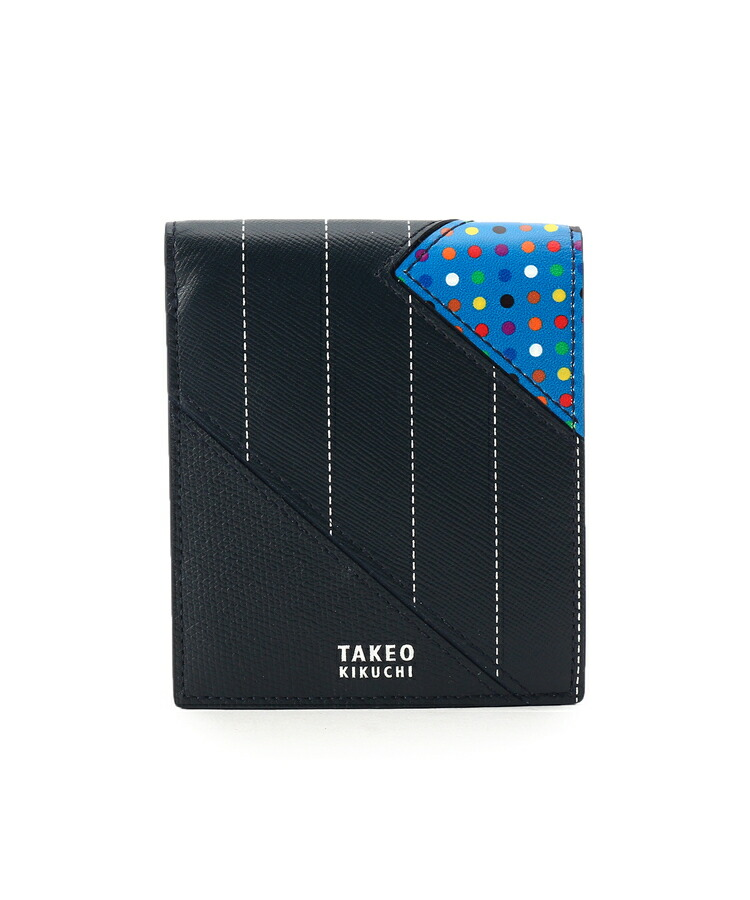 TAKEO KIKUCHI(タケオキクチ)通販|マルチドットパッチワーク2つ折財布 [ メンズ 財布 ](ネイビー(993))