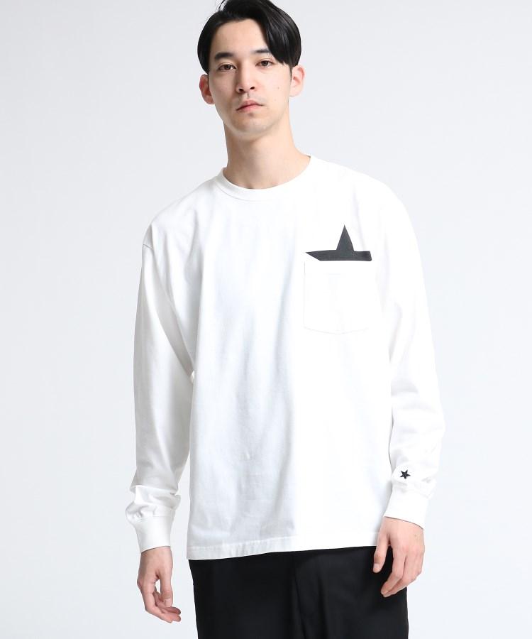 tk.TAKEO KIKUCHI(ティーケー タケオ キクチ)通販|【WEB限定】USAコットン スターポケットTシャツ(長袖)(ホワイト(001))