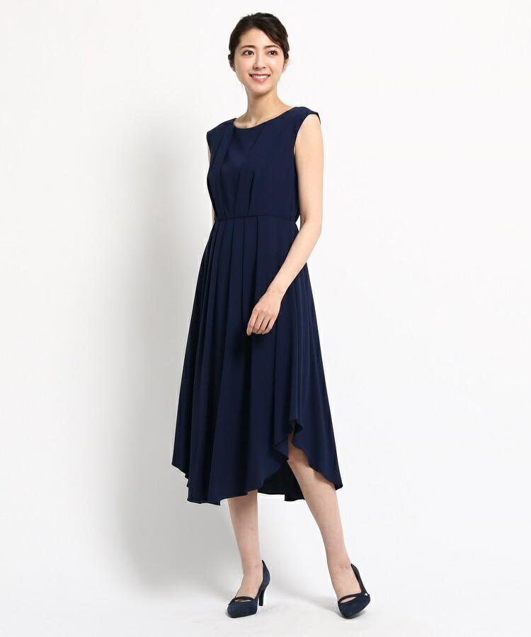 BRA14(ワールド フォーマル セレクション)通販 EMOTIONAL DRESSES ツイルセミロングワンピース
