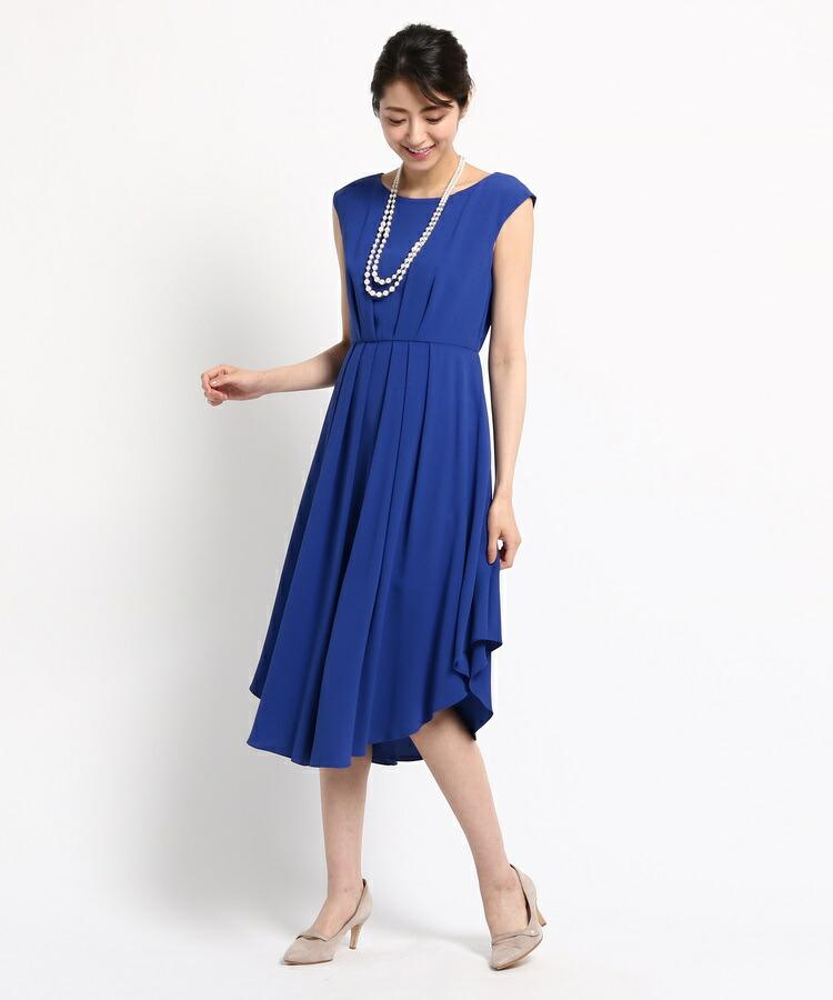 WORLD FORMAL SELECTION(ワールド フォーマル セレクション)通販 EMOTIONAL DRESSES ツイルセミロングワンピース(ブルー(092))