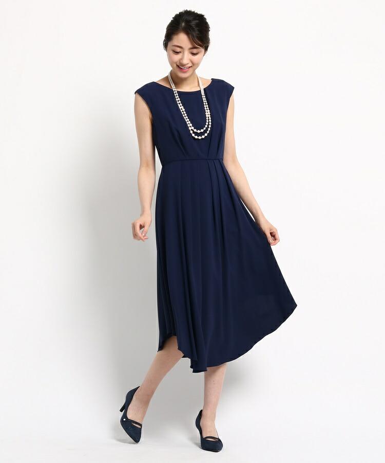 WORLD FORMAL SELECTION(ワールド フォーマル セレクション)通販 EMOTIONAL DRESSES ツイルセミロングワンピース(ネイビー(093))