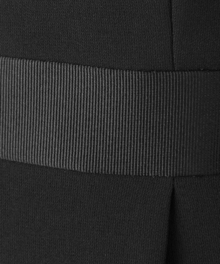 BRA14(ワールド フォーマル セレクション)通販|【礼服・喪服・ブラックフォーマル】◆INDIVI グログラン切替ワンタックワンピース