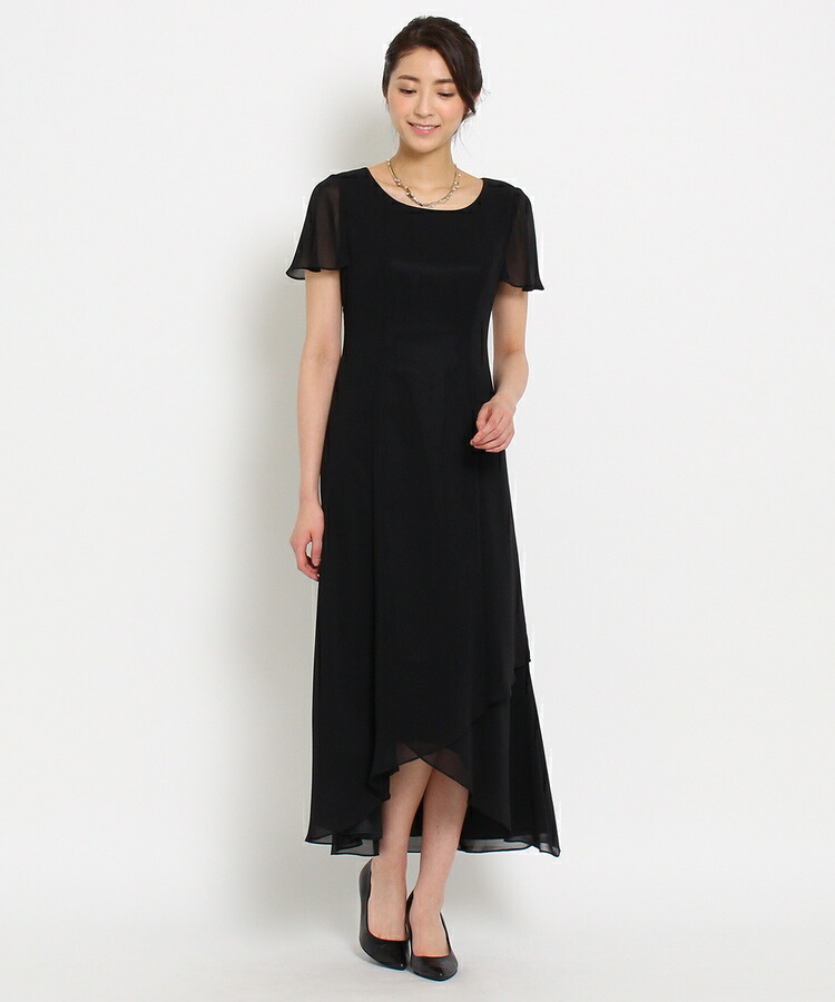 WORLD FORMAL SELECTION(ワールド フォーマル セレクション)通販|EMOTIONALL DRESSES ヘム重ねマキシワンピース(ブラック(019))