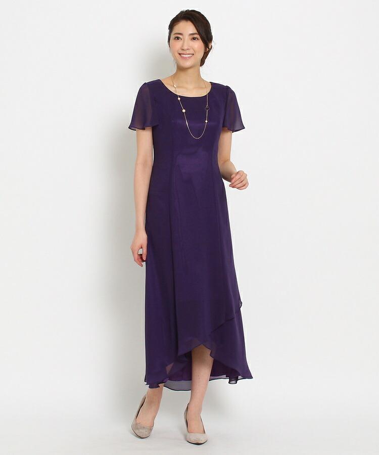 WORLD FORMAL SELECTION(ワールド フォーマル セレクション)通販|EMOTIONALL DRESSES ヘム重ねマキシワンピース(パープル(083))