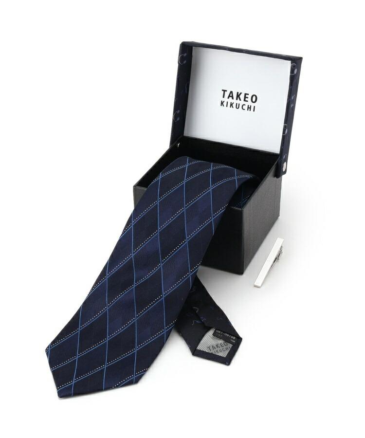 TAKEO KIKUCHI(タケオキクチ)通販|【 WEB限定 】 ミュージックネクタイタイバーセット[ メンズ タイ タイピン ボックス ギフト ](ネイビーチェック(293))