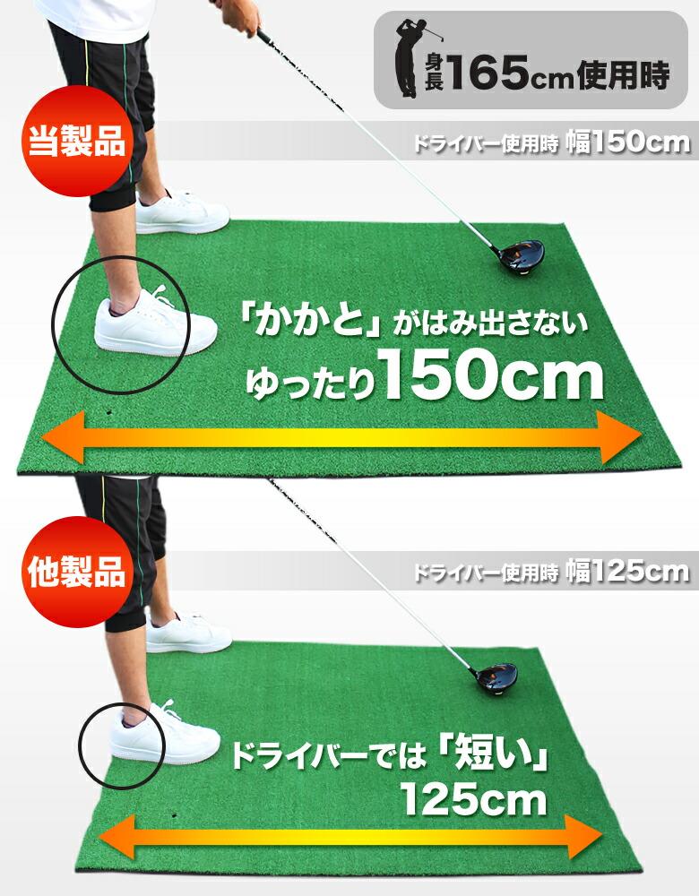 ゴルフ/ショット用スタンスマット(超特大)
