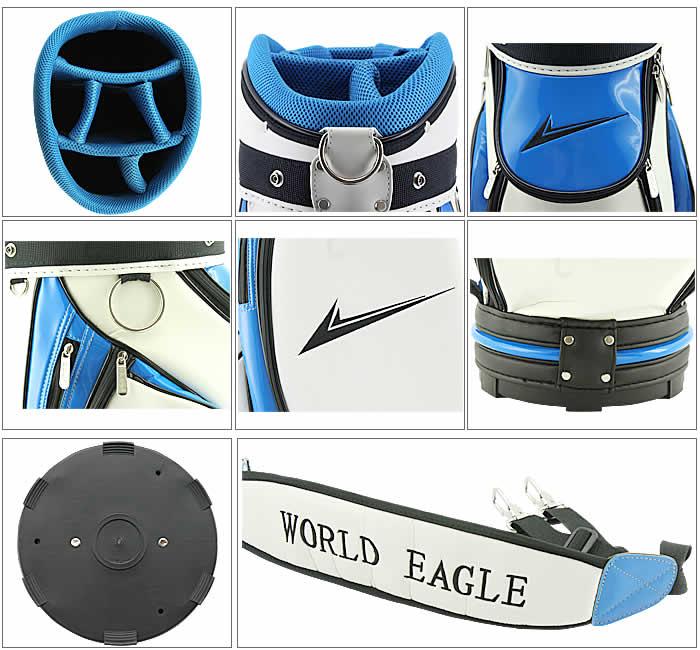 WORLD EAGLE CADDIE BAG CBX005 WHITE/BLUE