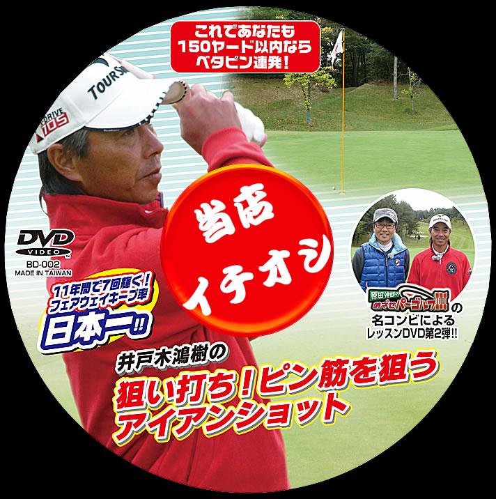 ゴルフレッスンDVD 第2弾井戸木鴻樹の狙い打ち!ピン筋を狙うアイアンショット
