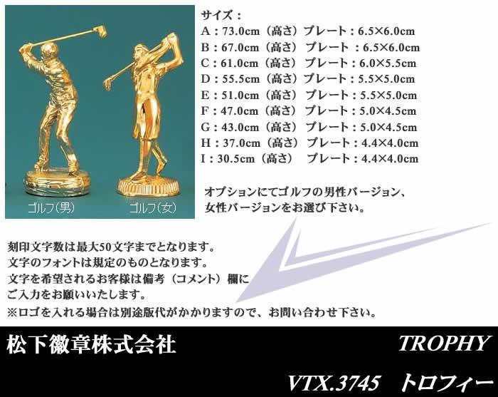 トロフィー 【VTX-3745】【松下徽章】