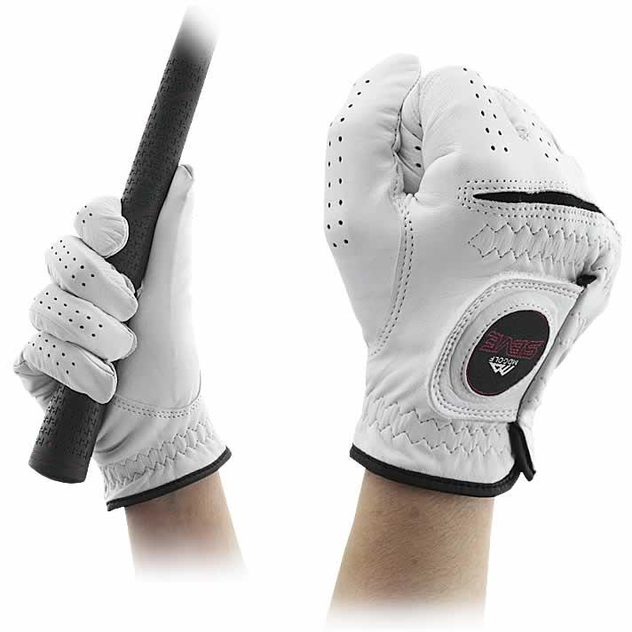 SEVE  AAA CABRETTA Golf GloveAAA (最高グレード) CABRETTA (シープスキン)製(カラー:ホワイト)【右手用】